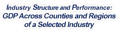Missouri - Gross Domestic Product Across Counties and Regions of a Selected Industry